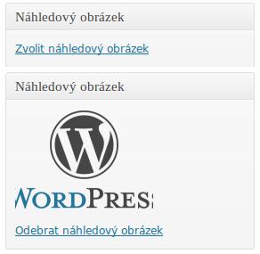 Náhledový obrázek ve WordPressu