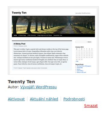 WordPress – Jak na vlastní šablonu – Dodatečné funkce